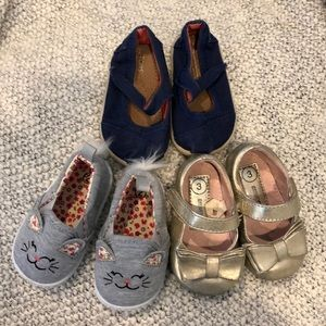 Toddler girls shoes, size 2,3,4
